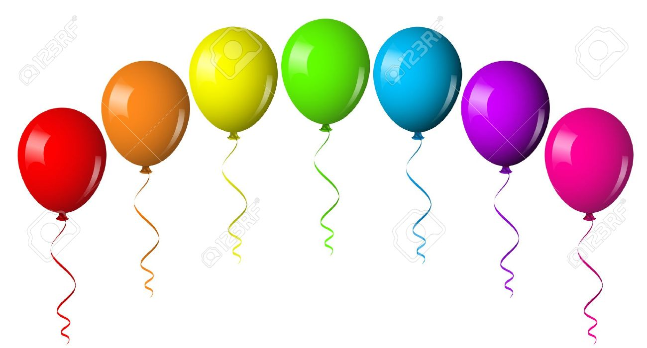 1300x700 Birthday Balloons Clipart