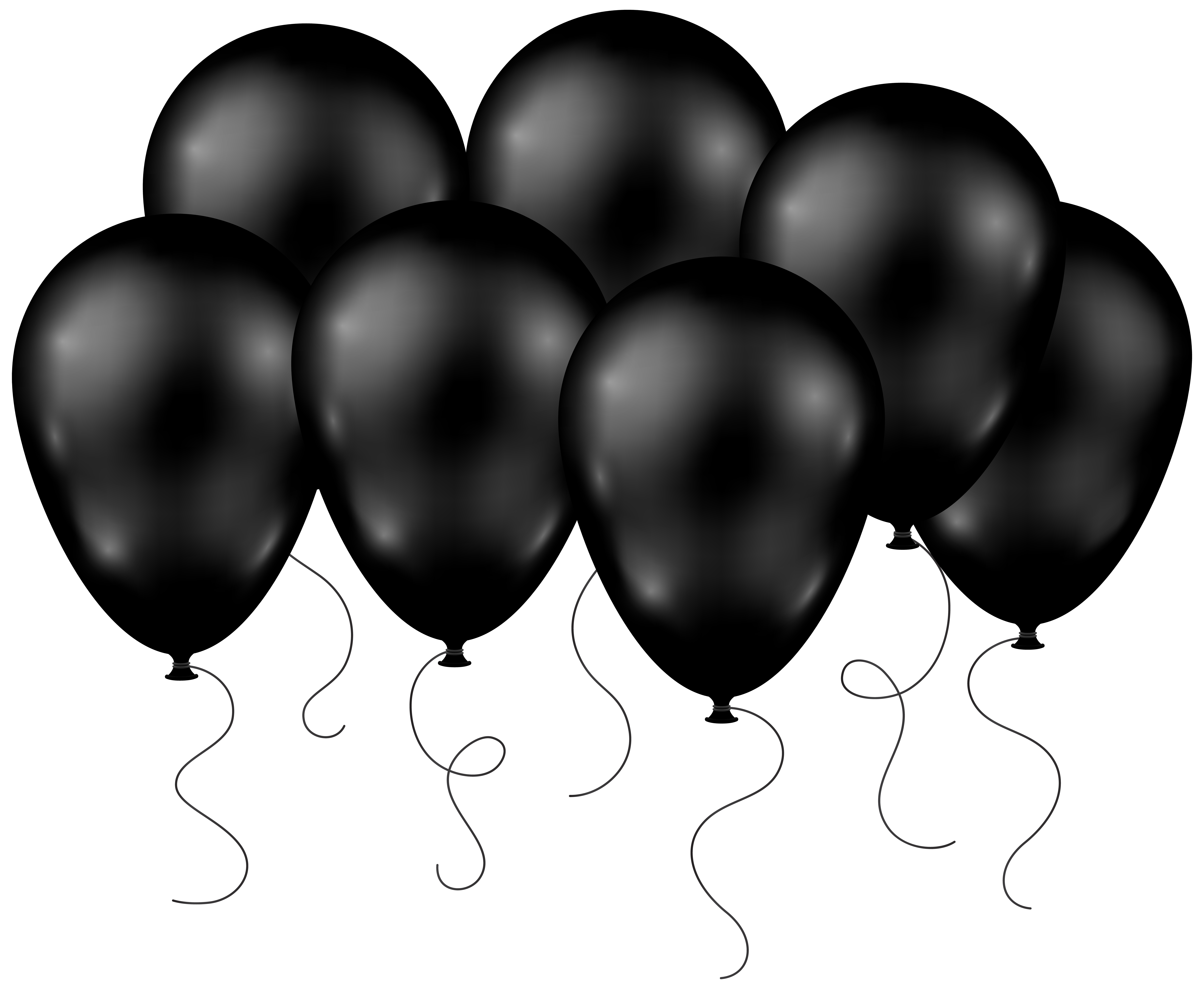 8000x6571 Black Balloons Transparent Png Clip Art Imageu200b Gallery