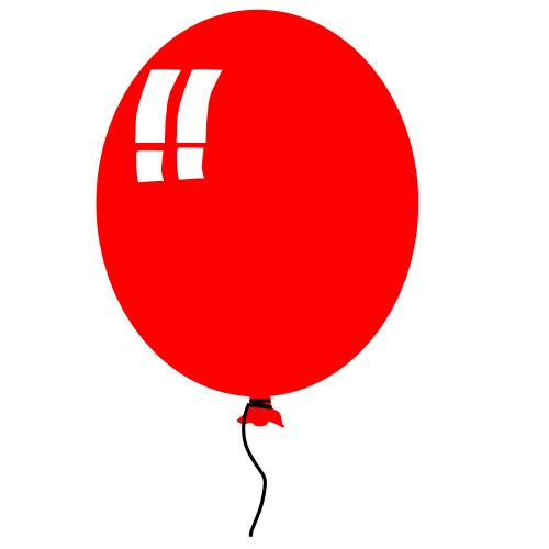 500x500 Clipart Balloon