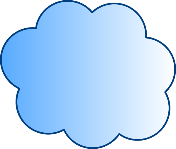 600x510 Blue Cloud Clip Art