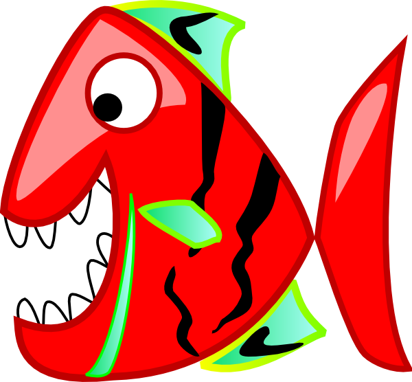 600x556 Red Fish Clip Art