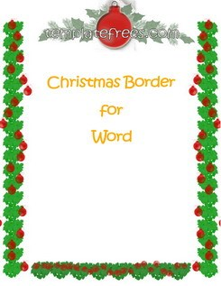 245x317 Free Christmas Border Templates Microsoft Word Merry Christmas
