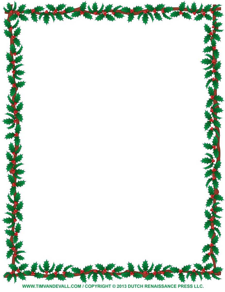 927x1200 Christmas Borders For Word