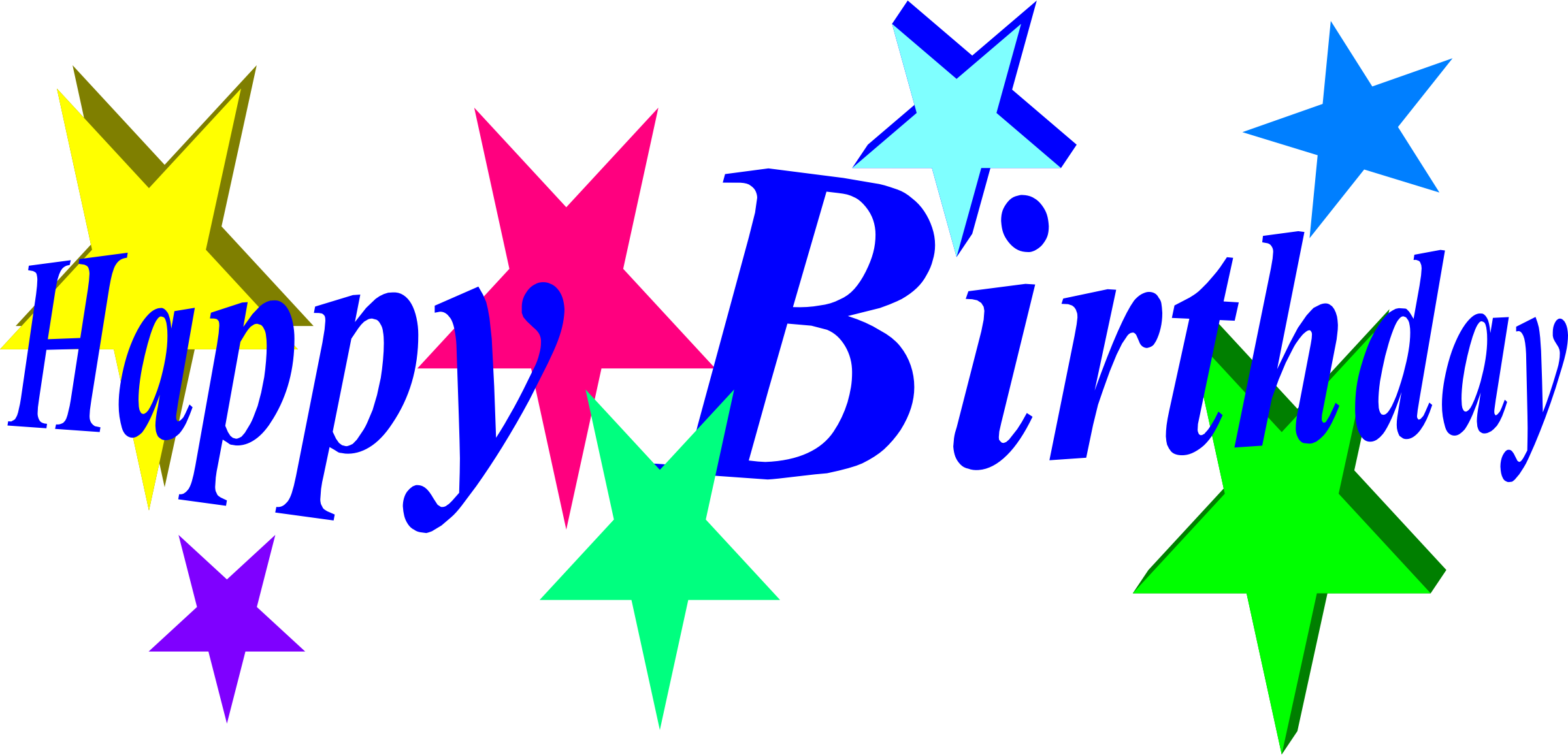 2400x1156 Happy Birthday Clip Art