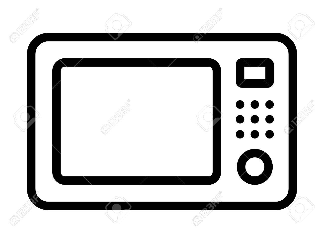 1300x974 Microwave Countertop Oven Line Art Icon For Apps And Websites