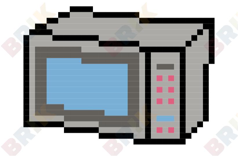 822x542 Microwave Oven Day Pixel Art Brik