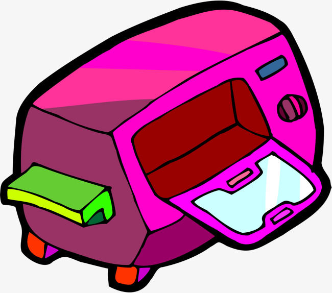 650x574 Cartoon Microwave Oven, Cartoon, Microwave Oven, Product Png