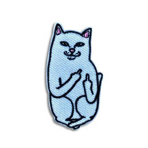 480x480 Fuck You Patch Backpack Patch, Jacket Patches, Cat Giving Finger, Mid
