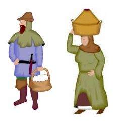 230x242 Art Medieval Peasants Clipart