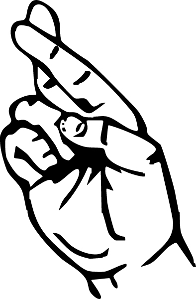 394x600 Middle Finger Drawing Clipart