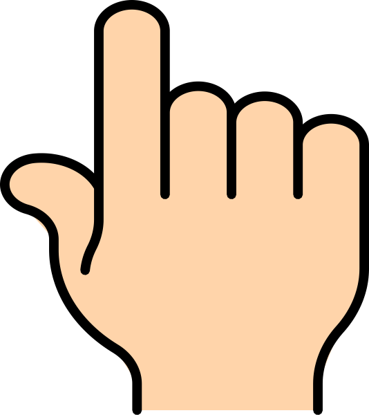 534x600 Pointer Finger Clip Art