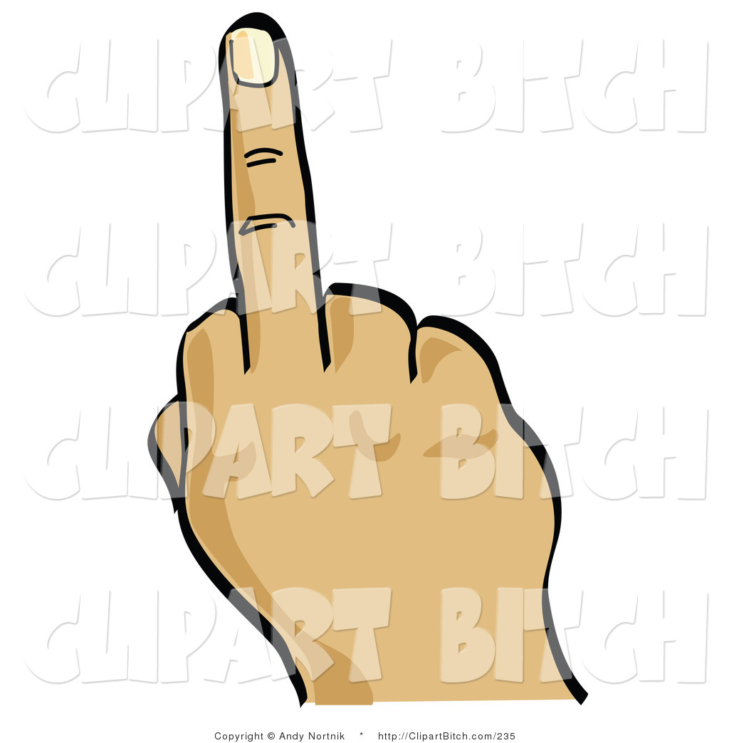 1024x1044 Clip Vector Art Of A Hand Holding Up The Middle Finger On White By