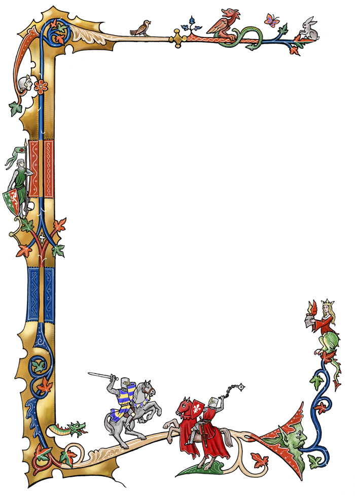 700x978 Medieval Clipart Frame