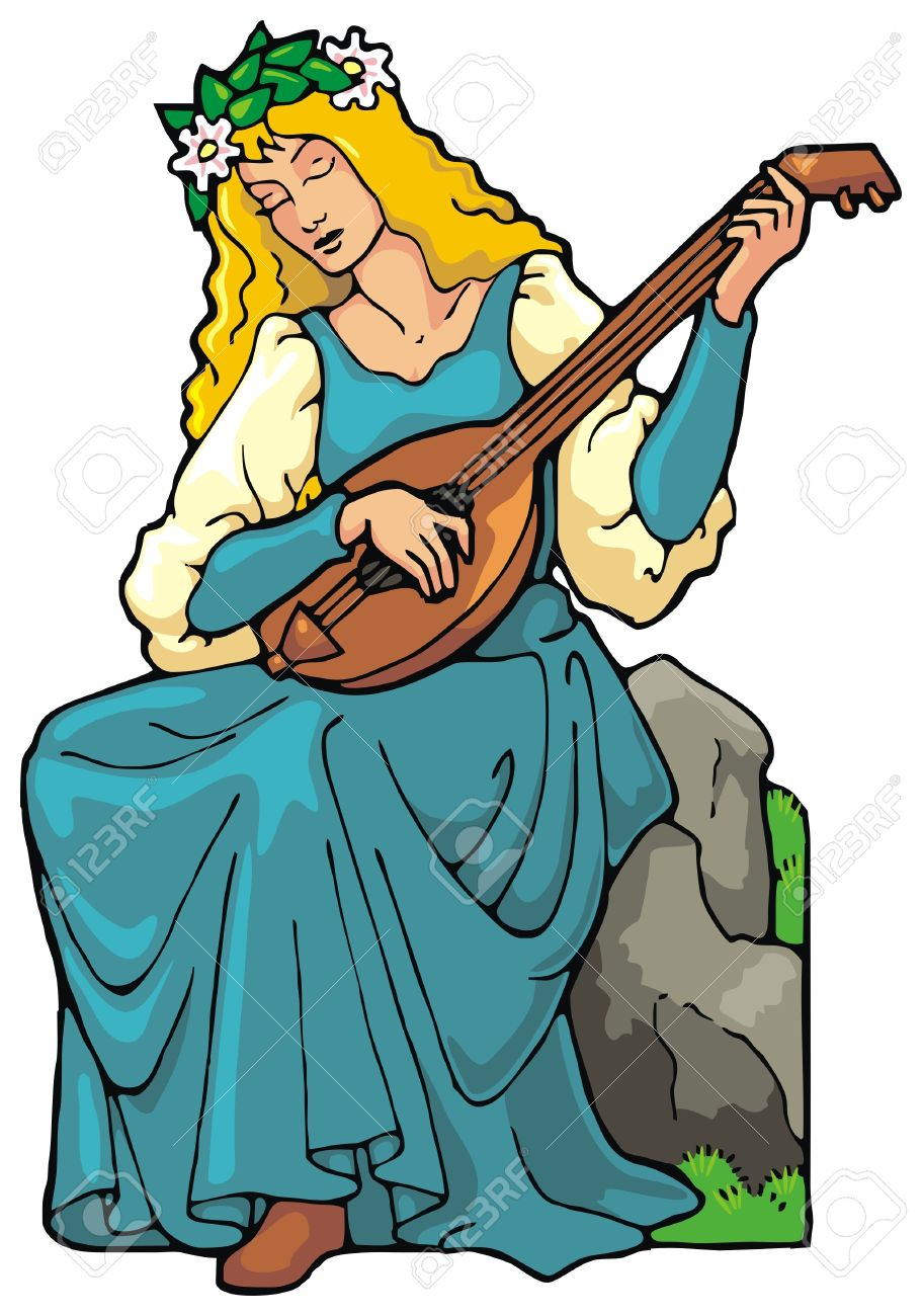 911x1300 Musician Clipart Medieval