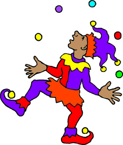 250x295 Jester Clipart Medieval