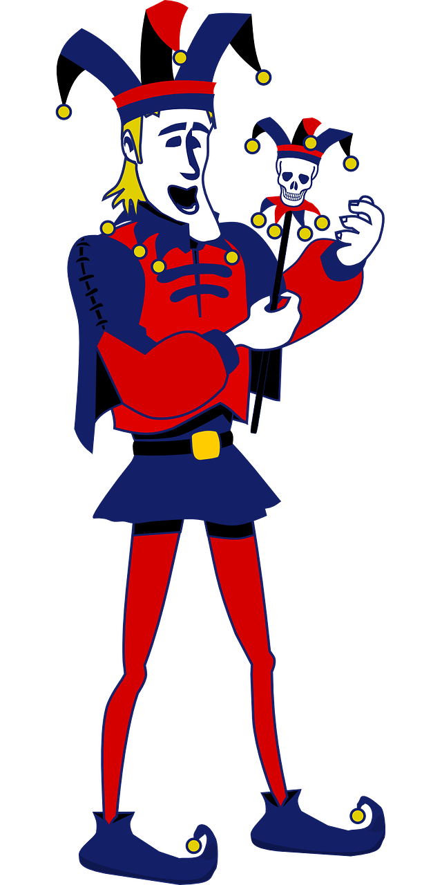 640x1280 Jester Clipart Medieval