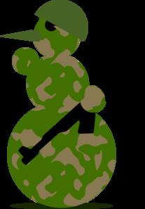 207x297 Snowman Military Clip Art