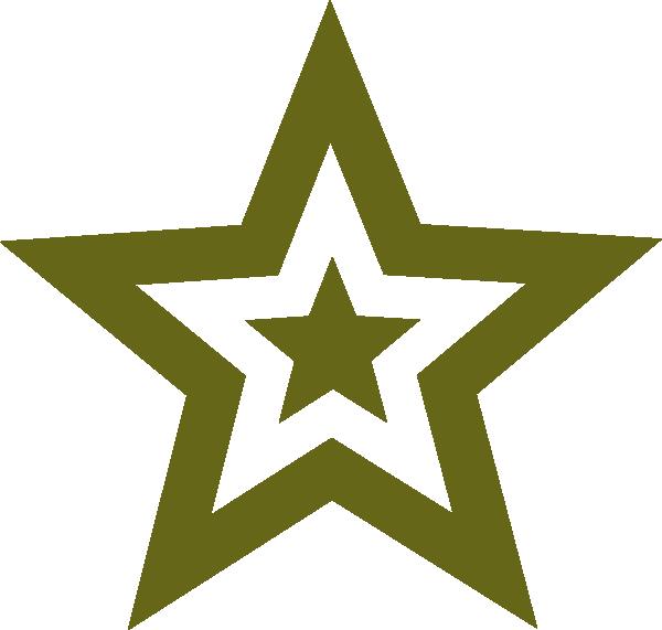 600x571 Star Military Green Clip Art