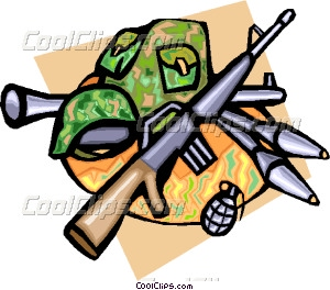 300x264 Army Weapons Vector Clip Art