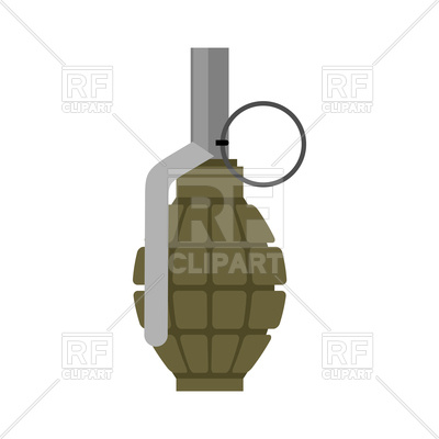 400x400 Military Green Grenade Royalty Free Vector Clip Art Image