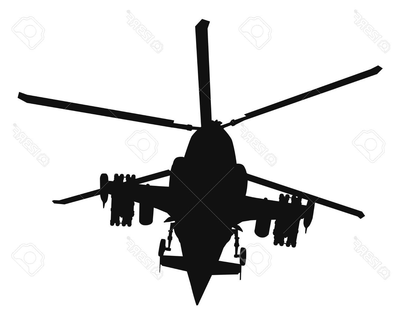 1300x1056 Hd Military Helicopter Silhouette Vector Stock Photos