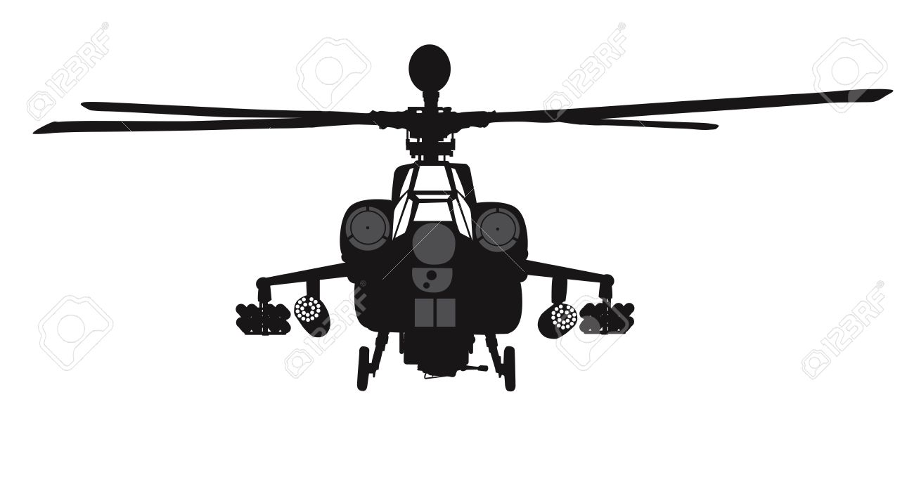 1300x706 Mi 28 Havoc Attack Helicopter Vector Silhouette Royalty Free