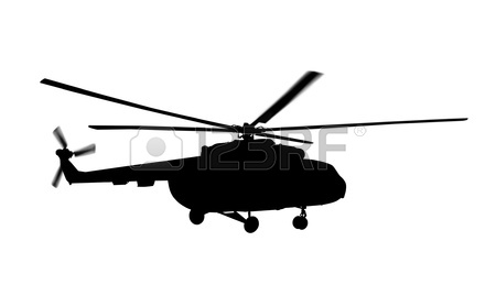 450x269 Military Helicopter Isolated On A White Background Stock Photo