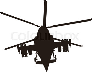 320x251 Military Helicopter Silhouette. Vector Eps8 Stock Vector Colourbox