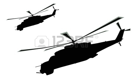 450x283 Russian Ka 50 Black Shark Hokum A Attack Helicopter Silhouette