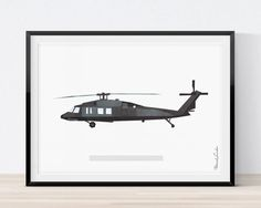 236x188 Blackhawk Helicopter Wall Art Vintage By Cedarworkshop On Etsy