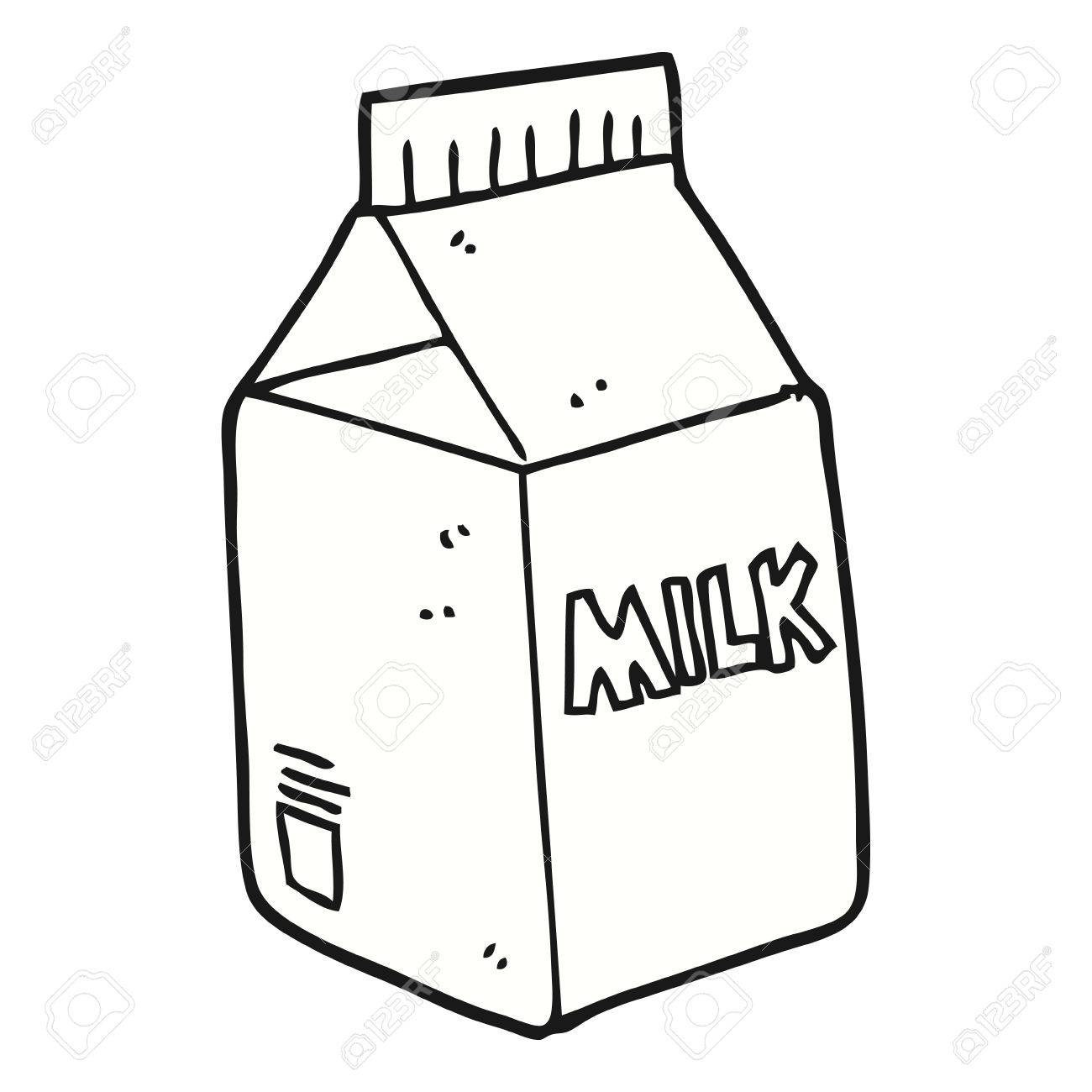 1300x1300 Freehand Drawn Cartoon Milk Carton Royalty Free Cliparts, Vectors