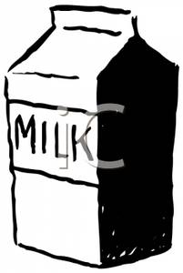 201x300 Art Image A Milk Carton In Black And White