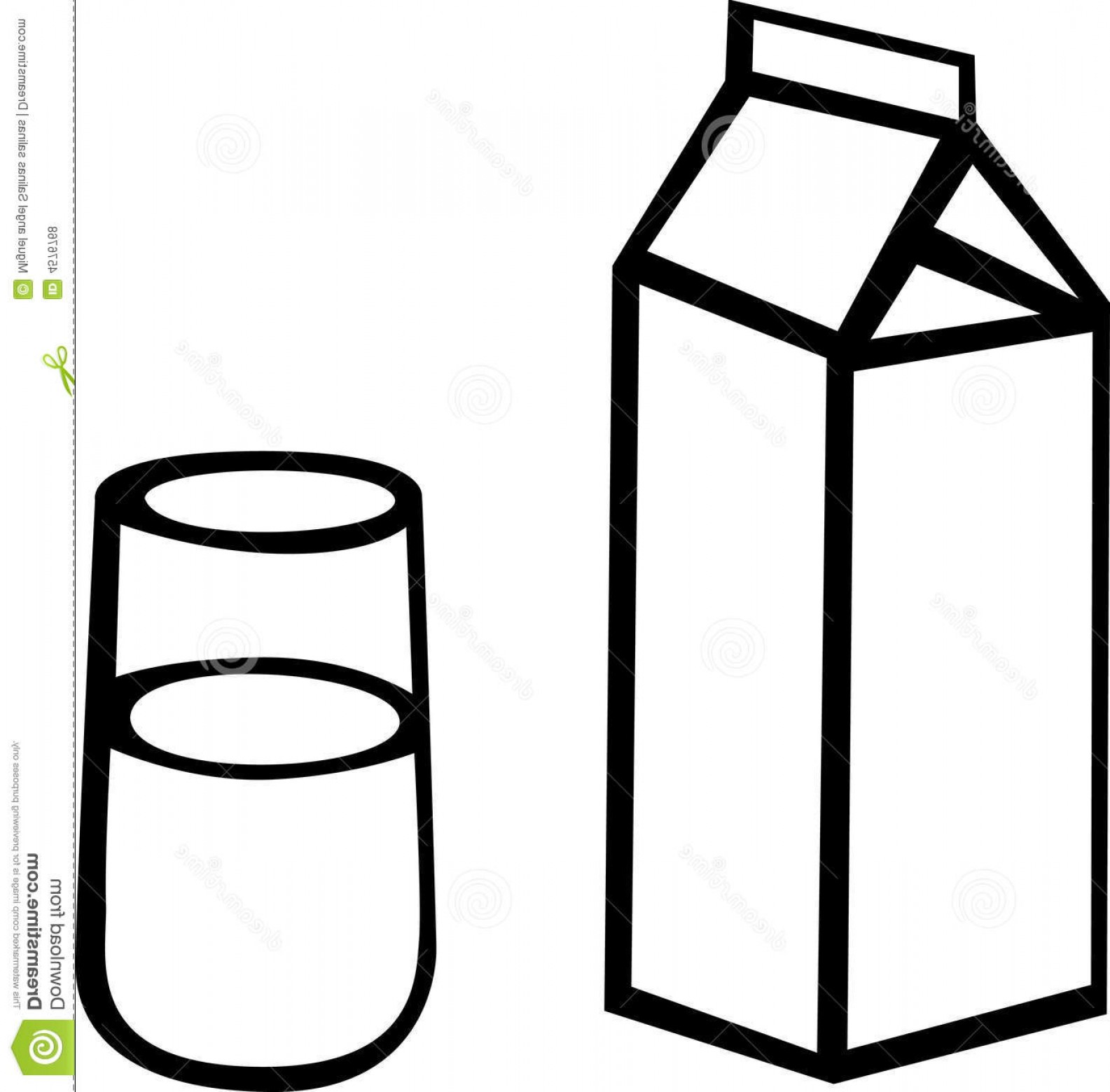 1585x1560 Milk Carton Clipart Illustration