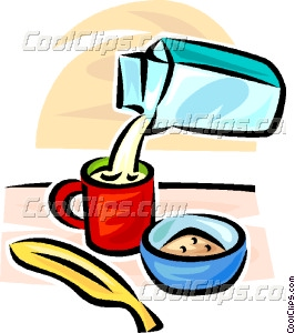 266x300 Milk Carton, Coffee Cup, Cold Cereal Vector Clip Art