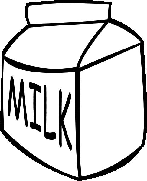 486x597 Milk (B And W) Clip Art