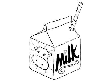 341x270 Milk Carton Clipart Straw