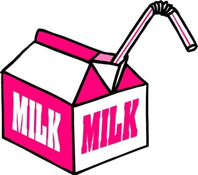 400x353 Milk Containers Clipart