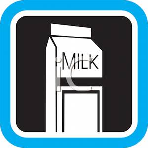 300x300 Art Image Black And White Carton Of Milk With A Blue Boarder