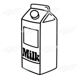 160x160 Milk Cartont Clipart Black And White Collection