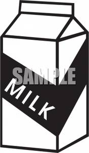 175x300 And White Milk Carton Clipart Picture