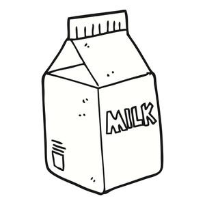 300x300 Freehand Drawn Cartoon Milk Carton Royalty Free Stock Image