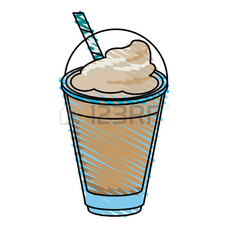 450x450 Milkshake And Whipped Cream Over White Background Vector