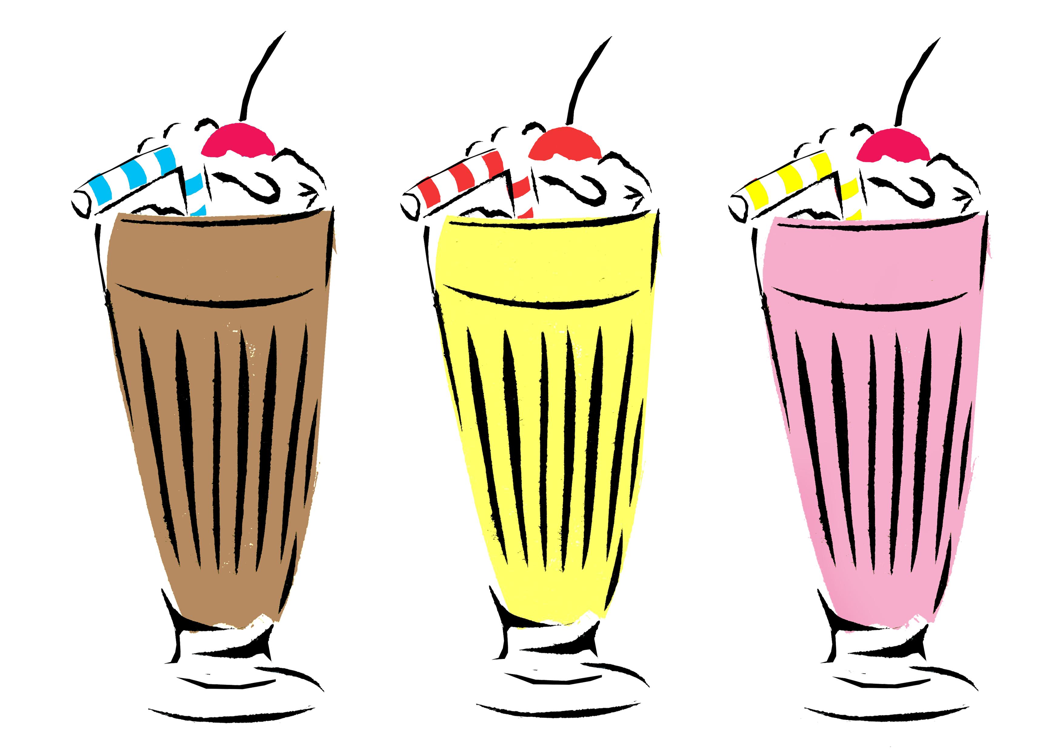 3508x2480 Milkshake Clipart Pop Art