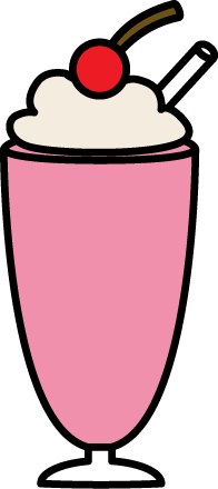 196x440 Strawberry Milkshake Clip Art
