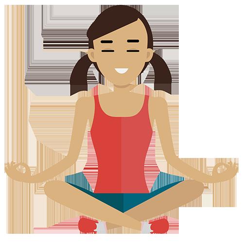 500x504 Meditation Clipart Calm Face