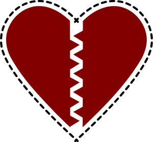 300x278 Broken Heart Clip Art Download