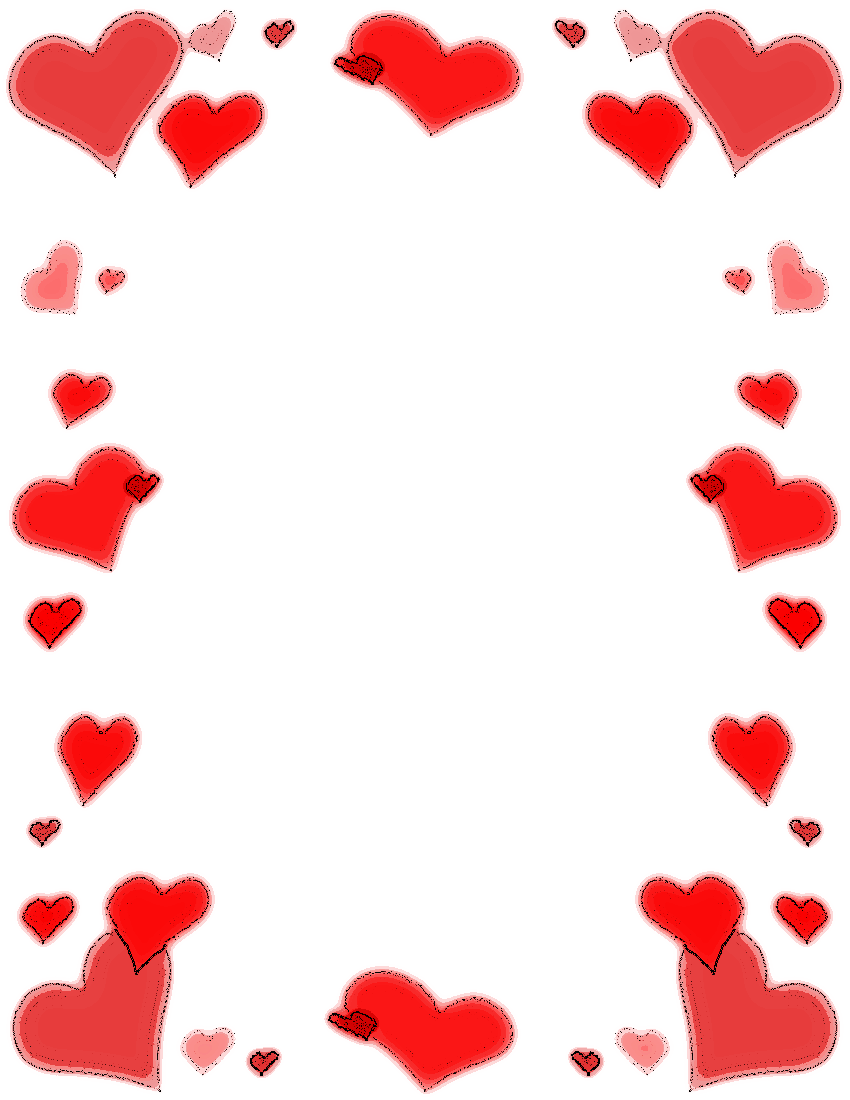 850x1100 Valentine Stationary Clip Art Download