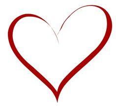 236x223 Heart Stencil Plain Clip Art