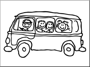 304x229 Clip Art Cute Minivan Bampw I Abcteach
