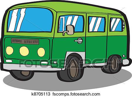 450x331 Clipart Of Minivan Cartoon Car K8705113
